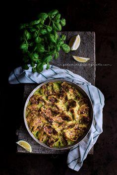 Conchiglioni con ricotta, mascarpone, zucchine e pistacchi