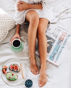 Avocado Toast + Black Coffee In Bed - The Perfect Way To Start The Weekend