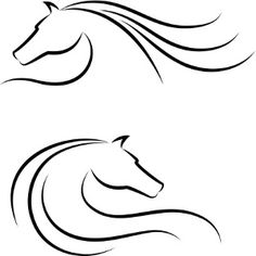 Horses head outline