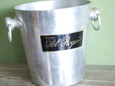 Champagne Ice Bucket By Pol Roger // by VintageRetroOddities