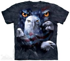 Patriotic Moon Eyes Eagle T-Shirt at theBIGzoo.com, a family-owned gift shop with 12,000+ animal-themed items.