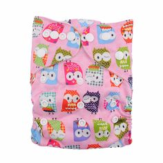 Baby's Reusable & Washable & Adjustable Gooofy Owl Diaper with Insert, 40% discount @ PatPat Mom Baby Shopping App