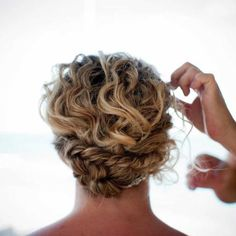 Naturally curly hair up do