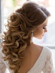 71 Breathtaking Wedding Hairstyles With Curls   HappyWedd.com