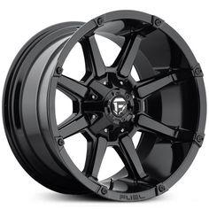 New 2016 Fuel Coupler D575 wheel, gloss black rim.