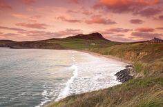 Whitesands Bay (Porth Mawr), Pembrokeshire Coastal Path,  Pembrokeshire, Wales, UK