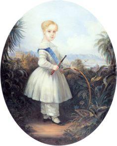 Alfonso de Brasil -El matrimonio entre Pedro II y Teresa Cristina empezó mal, pero a base de madurez, paciencia y, con el nacimiento del primer hijo Alfonso, la relación mejoró.