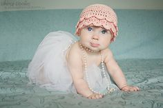 Crochet Pattern: Vintage Pearls Crochet Hat by whimsywoolies