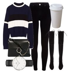 Untitled #6253 by laurenmboot on Polyvore featuring polyvore, fashion, style, River Island, Stuart Weitzman, Chloé, Daniel Wellington and clothing