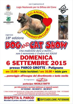 6/9 Dog&Cat Show organizzato dalla #LegadelCane di #Putignano (BA)