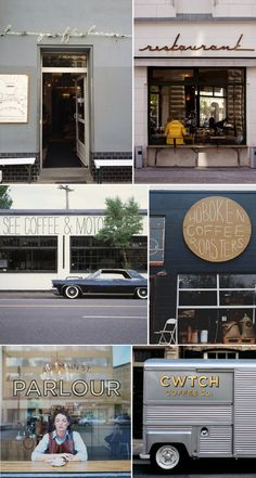 hand-lettered/drawn retail type, great unique idea for signage bar, cafe, mobile solutions - the round one Cafe Interior, Interior And Exterior, Cafe Concept, Store Displays, Retail Shop, Home Office Design, Cafe Restaurant, Shop Signs, Retail Design