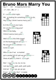 圍威喂 ukulele: Bruno Mars Marry you [ukulele tab]