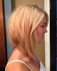 medium length haircut 2014 | Blonde Shoulder Length Hairstyles for Thick Hair