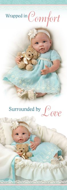 Pamper the You Are So Beautiful Baby Doll with her lavish outfit and included bassinet!