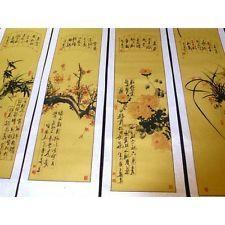 """Rollbilder-Set """"Die vier Edlen"""", chinesische Malerei"""