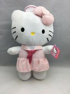 "12/"" 30Cm Official Sanrio Hello Kitty Skirt Plush Toys Soft Stuffed Animal Doll"