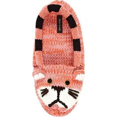 Cuddly Knit Kitten Slippers: absolutely adorable for lounging at home with your favourite feline friend.