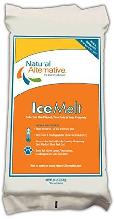 Natural Alternative Ice Melt Another Naturlawn Product - 50 Lb Bag - Safer For Pets, Property & The Environment, 2015 Amazon Top Rated De-Icers & Salt Spreaders #Lawn&Patio