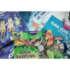 Yayınevinin gönderdiği yeni yayımlanan kitaplarıma nihayet kavuştum #ilkbahar #yaz #sonbahar #kış#aysunberktayözmen #altınkitaplar #illustrasyon #childrenbook #picturebook #animalstory