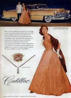 Cadillac ad, 1955 by christine592, via Flickr