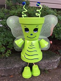 Large Butterfly Planter Flower Pot People Garden Decoration