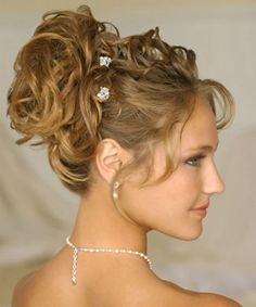 long curly hair - easy up-do