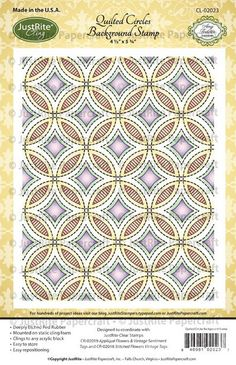 JustRite Quilted Circles Background Stamp