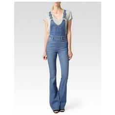 Paige Rialta High Rise Flare Overall - Edgecliffe