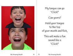 This really is an Amazing Mouth book! Your children will love the adorable images while practicing fun mouth sounds. Not only is it great oral motor practice, Gadget World, Oral Motor, Kids Education, Book Series, Good Books, The Book, Therapy, Printables, Student