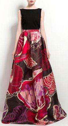 beautiful full bloom maxi skirt