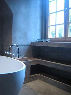 tadelakt , betonciré, betonstuc stucatelier van  Molitli Interieurmakers is de beste van Nederland op dit gebied