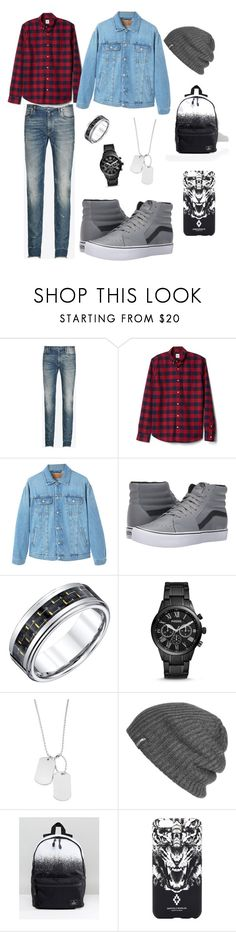 """""""Max Granger"""" by rumtreibergirl on Polyvore featuring Maison Margiela, Gap, MANGO, Vans, FOSSIL, Variations, Outdoor Research, ASOS, Marcelo Burlon and men's fashion"""