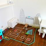 Create a play city in any nook and cranny with washi tape. By le jardin de juliette.