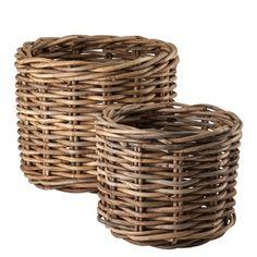 Basket Rattan Set Of 2