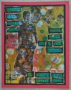 Stempel Yvon - Art Journal Card