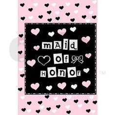 Hearts Maid of Honor Journal on CafePress.com