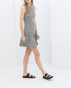 ZARA - TRF - DRESS WITH ROUNDED COLLAR AND FRILL
