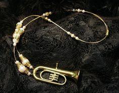 Halskette *Goldene Tuba* - Klunkerfisch  (www.Klunkerfisch,de)