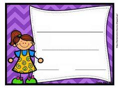 Δραστηριότητες, παιδαγωγικό και εποπτικό υλικό για το Νηπιαγωγείο & το Δημοτικό: Βραβειάκια για τρομερά Νηπιάκια (για το τέλος της σχολικής χρονιάς) - μέρος δεύτερο Page Borders, Borders And Frames, September Crafts, Classroom, Teacher, Education, School, Blog, Journaling