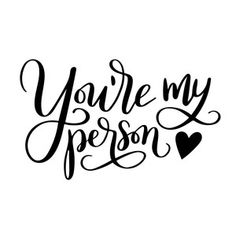 Silhouette Design Store - View Design #227280: you're my person