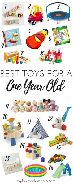The ultimate gift guide for a one year old or 1st birthday party. What to buy for a 1 year old. These are definitely the top toys to buy for a one year old. Your Ultimate 1st Birthday gift guide - for boys or girls!