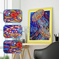 5D DIY Special Shaped Diamond Painting Skull Art Canvas Embroidery Home Decor