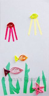 Paper quilling for kids.  You can cut slits in the end of a plastic coffee stirrer instead of using a specialized tool.