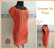 Summer air tunic pdf crochet pattern  size S  3XL  por BeACrafterxD