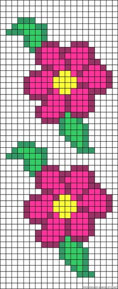 A30110 - friendship-bracelets.net Cross Stitch Beginner, Small Cross Stitch, Cross Stitch Heart, Cross Stitch Flowers, Crochet Leaf Patterns, Bead Loom Patterns, Cross Stitch Patterns, Native Beading Patterns, Flower Quilts