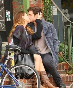 <3 Nico and Sutton smooches on the set of #YoungerTV. Series premieres March 2015 on TV Land. Visit us at www.youngertv.com.