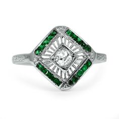 18K White Gold The Adita Ring from Brilliant Earth