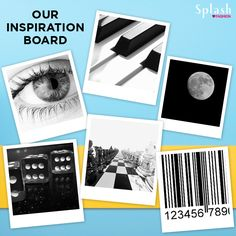 Inspiration board for the theme of the week! MONOCHROME!