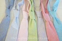 Simply Seersucker...Classic Mens Tie...by The Laughing Giraffe. $24.00, via Etsy.