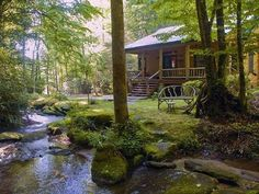 Love this cabin with a stream near by for fishing.